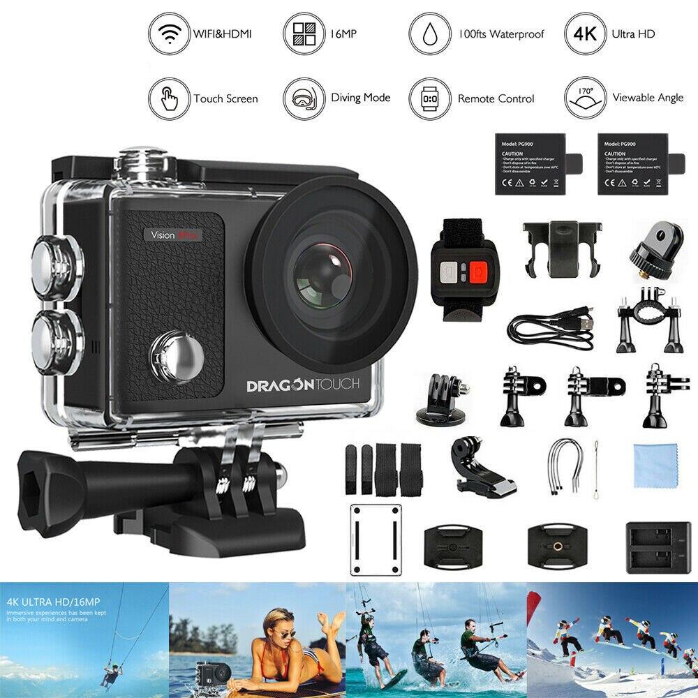 AKASO Vision 3 pro Ultra HD 4K Action Camera 30m Waterproof 2.0' Screen 1080p Sport Camera deportiva Go Extreme Pro Cam