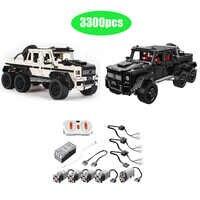 LE-J901 lepining Technic seria RC samochód MOC 2425 G63AMG 6X6 LAND CRUISER zestaw Model klocki samochodzik zabawka dla dzieci