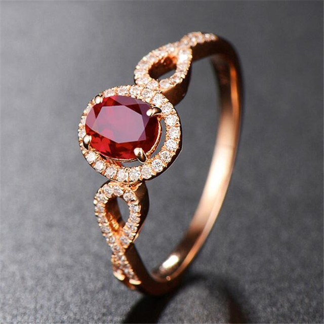 Ataullah Natural Red Ruby Rings 925 Silver 18k Rose Gold Plated Inlaid with 3A Zircon Gemstone Ring Fine Jewelry for Woman RW085 2