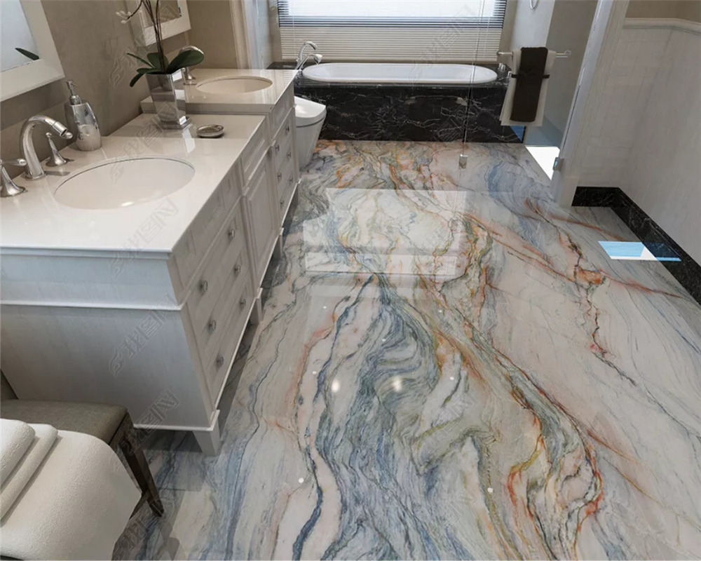 Beibehang Customized Personality Ultra Bathroom Marble Floor Background 3d Wallpaper Papel De Parede Wall Papers Home Decor
