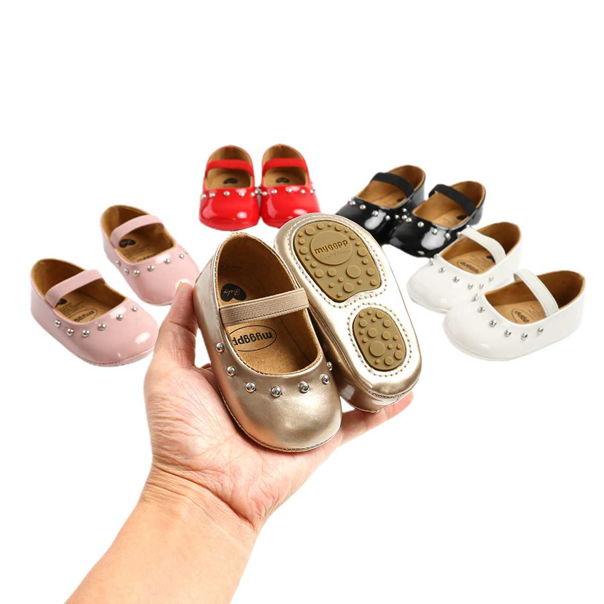 Baby Shoes, Solid Color Anti Slip PU