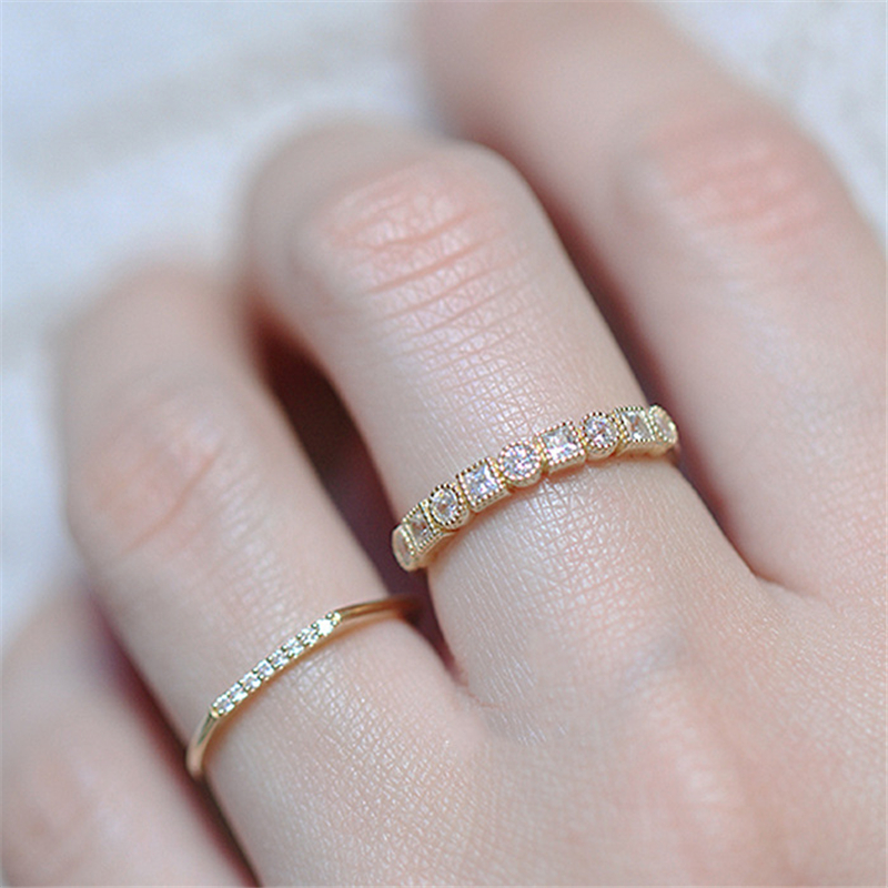 Fashion 14k Gold Topaz Diamond Ring Refined Bizuteria Anillos Luxury Simulated Wedding Jewelry Gemstone Diamante Rings for Women