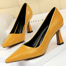 BIGTREE Pumps Women High Heels Woman Shoes Heels Classic Ladies Shoes Sexy Snake Heels Pumps Pointed Toe Stiletto Office Shoes women pumps office suede lady stiletto extreme high heels solid women shoes pink fashion pointed toe high heels ladies shoes