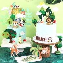 Zoo Animals Cake Topper Decor Birthday Cake Decor Jungle Animal Birthday Forest Theme Party Birthday Party Decor Kid Baby Shower