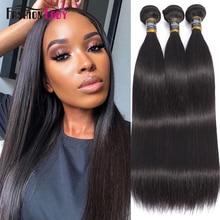 Fashion Lady Pre colored Peruvian Straight Bundles Hair Extensions Human Hair Bundles 1b# 3/4 Bundle Per Pack Non Remy