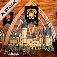 In Stocks Movie H warts Castle School Magic Model 6044pcs Building Blocks Brick 71043 Children Gift Compatible with 16060 Toys