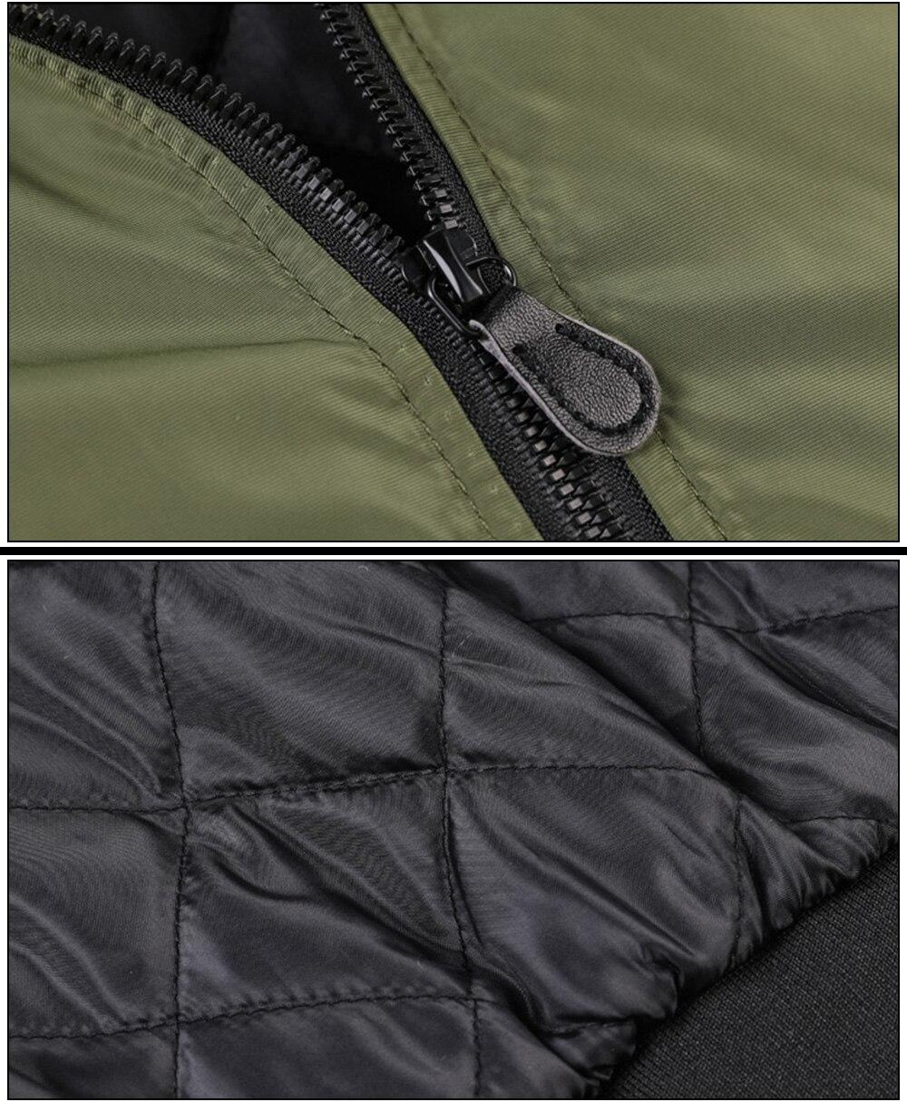 Ανδρικό μπουφάν φθινοπωρινό στρατιωτικού στυλ αντιανεμικό σε μεγάλα μεγέθη msow