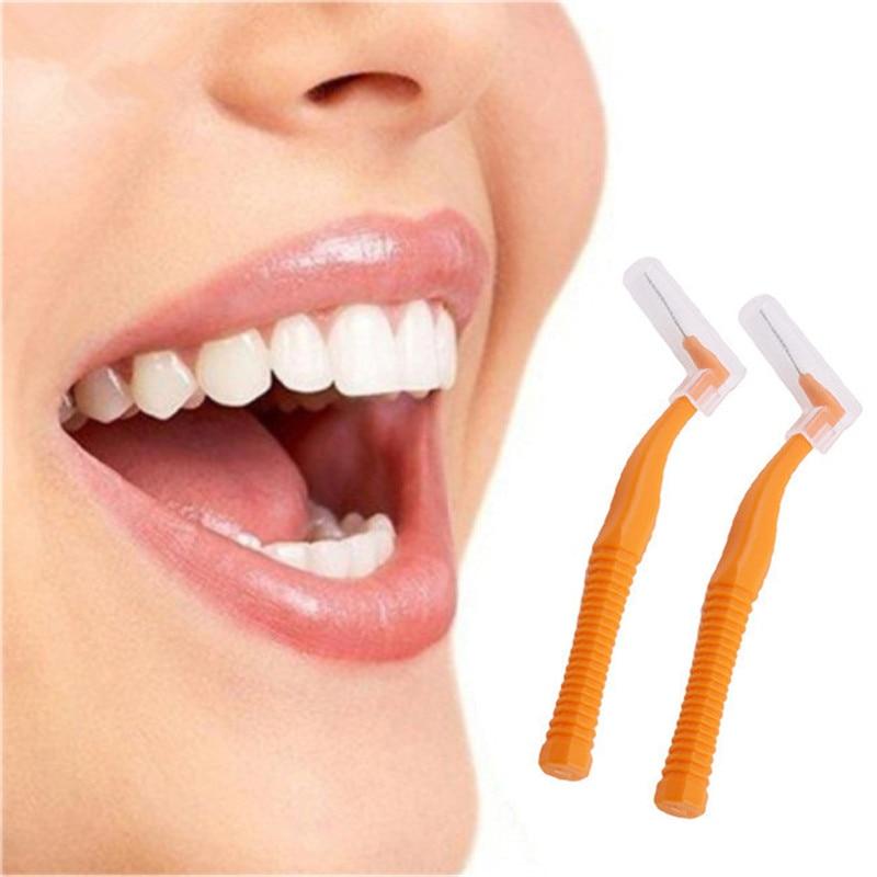 Отбеливание зубов L Форма межзубная щетка с Уход за полостью рта зубной Палочки Ортодонтическая зубная щетка зубочистки 20 шт./кор