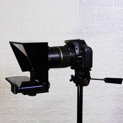Mini Teleprompter Draagbare Mobiele Telefoon Teleprompter Voor Canon Nikon Sony Camera Toespraak Video Vlog Youtube Met Afstandsbediening