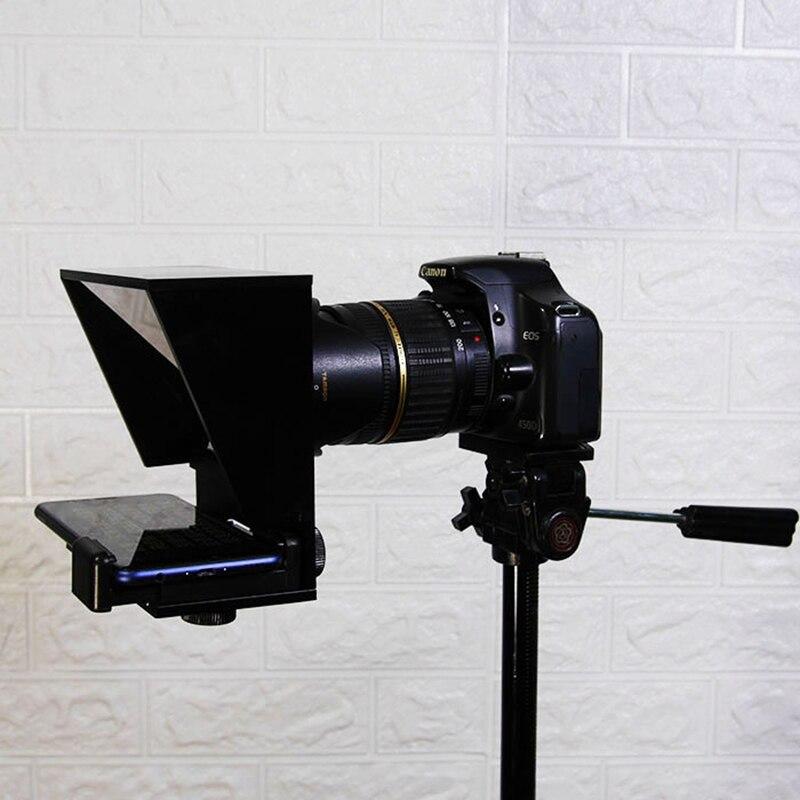 Mini téléprompteur Portable téléphone Portable téléprompteur pour Canon Nikon Sony caméra discours vidéo Vlog youtube avec télécommande