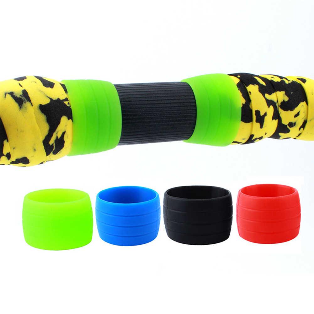 1 paire guidon sangle Silicone collier vélo Silicone Plug caoutchouc Anti-saut route vélo bouchons pièces pour barre ruban vélo accessoires