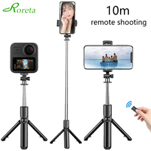 Roreta 3 ב 1 Selfie מקל מיני חצובה להארכה חדרגל עם Bluetooth מרחוק תריס עבור iPhone Xiaomi smartphone עבור Gopro