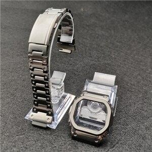 Серый цвет ремешки для часов модификация ремешок для часов ободок/Чехол DW5600 GW-M5610 Металл 316L нержавеющая сталь ремень с инструментами