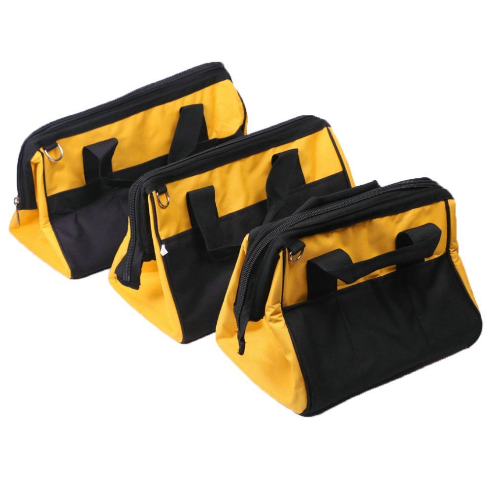 Large Capacity Oxford Cloth Tool Bag Color Blocks Electrician Maintenance Tools Packaging Storage Handbag Shoulder Bag Organizer