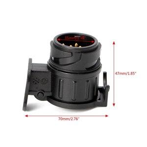 Image 5 - 13 Pin zu 7 Pin Stecker Stecker Adapter 12V Auto Anhänger Lkw Caravan Anhängerkupplung Sockel Converter Europäischen Standard Wasserdicht