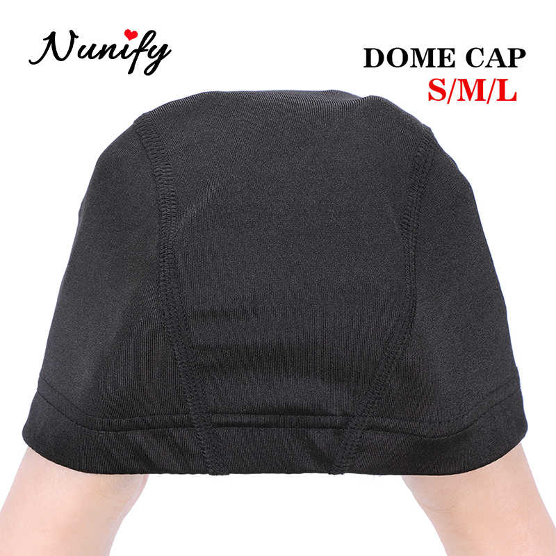 Nunify 1 pçs s m l atacado elastano cúpula boné para bonnet perruque preto hairnet cúpula boné de natação peruca acessórios atacado