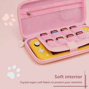 Image 5 - Nintendo anahtarı durumda kedi pençe CP saklama çantası NS silikon sert kabuk kapak kutusu Nintendo anahtarı için Lite oyun konsolu aksesuarları