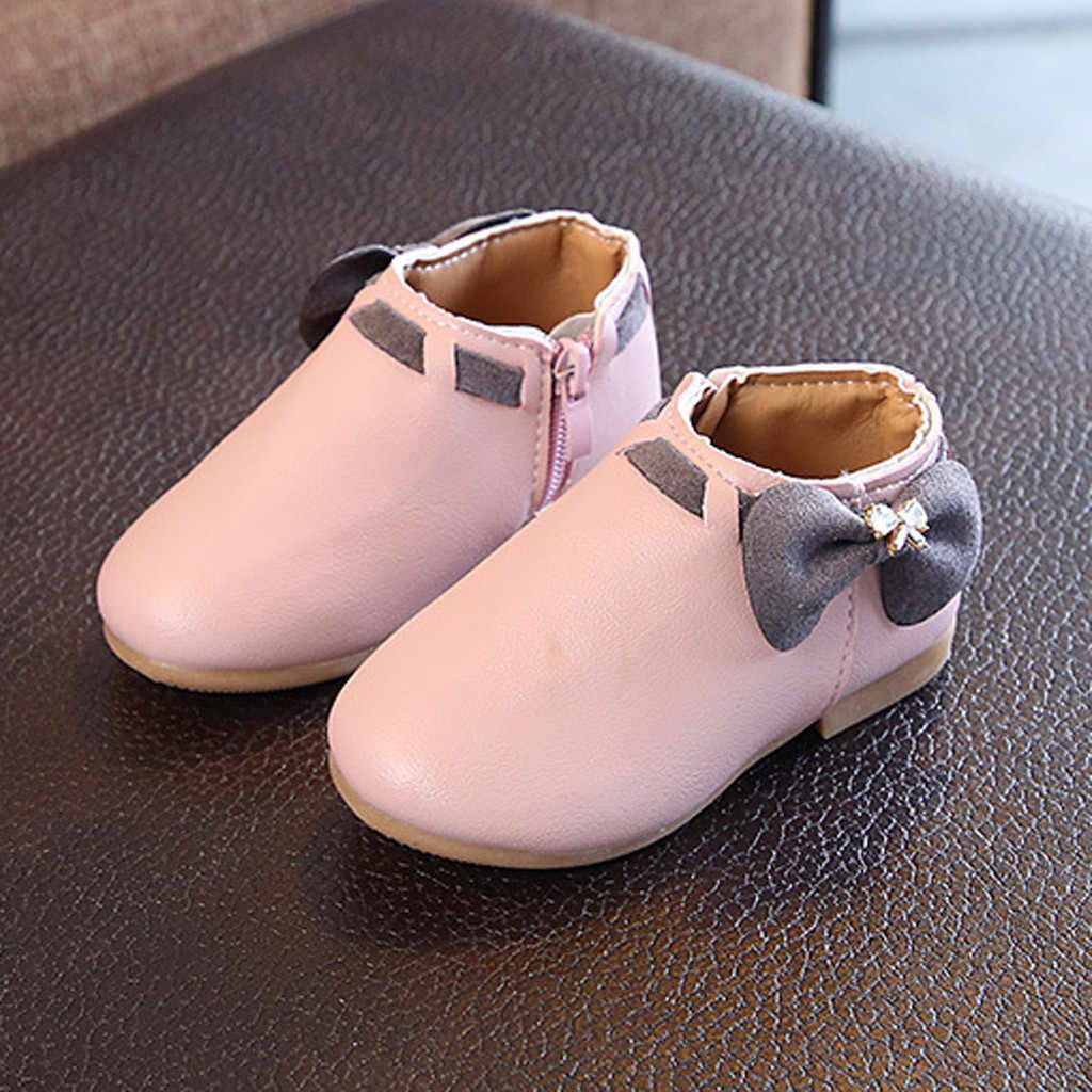 Girls Boots Shoes Girls Princess Shoes Toddler Infant Kids Baby Girls Cute Bowknot Girls Princess Boots Casual Shoes Botas Nina