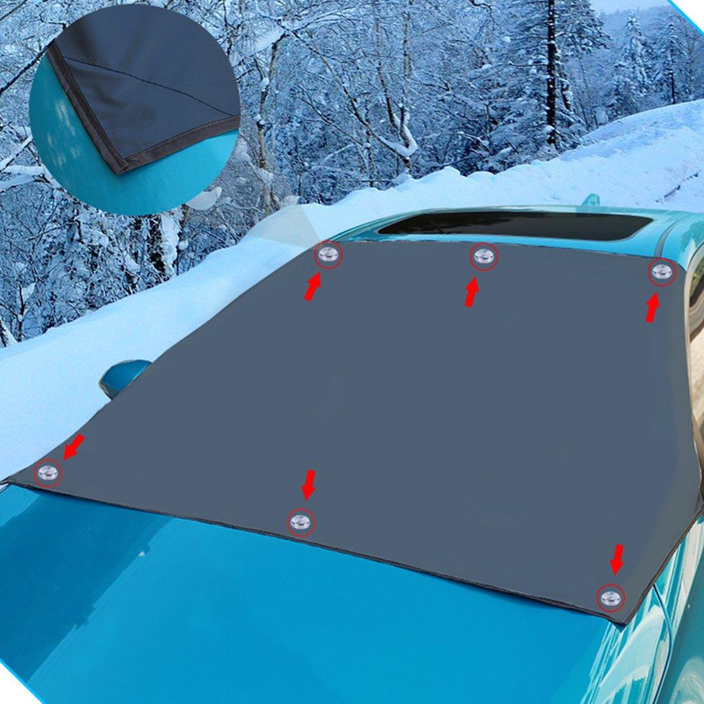 Automóvel magnético pára sol capa pára brisa do carro neve sol sombra capa de proteção à prova dwaterproof água pára brisa do carro capa|Protetor solar p/ parabrisas| |  - title=