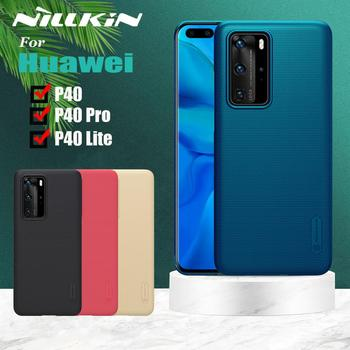For Huawei P40 Pro P40 Lite Case NILLKIN Frosted Matte Hard PC Back Cover Case for Huawei P40 Pro P40 Lite Gift Phone Holder фото