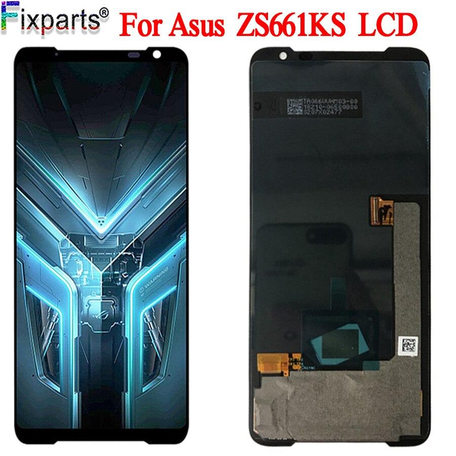 Оригинальный новый стеклянный датчик для Asus ROG Phone 3 ZS661KS, 6,59 дюйма, ЖК-дисплей для Asus ZS661KS LCD
