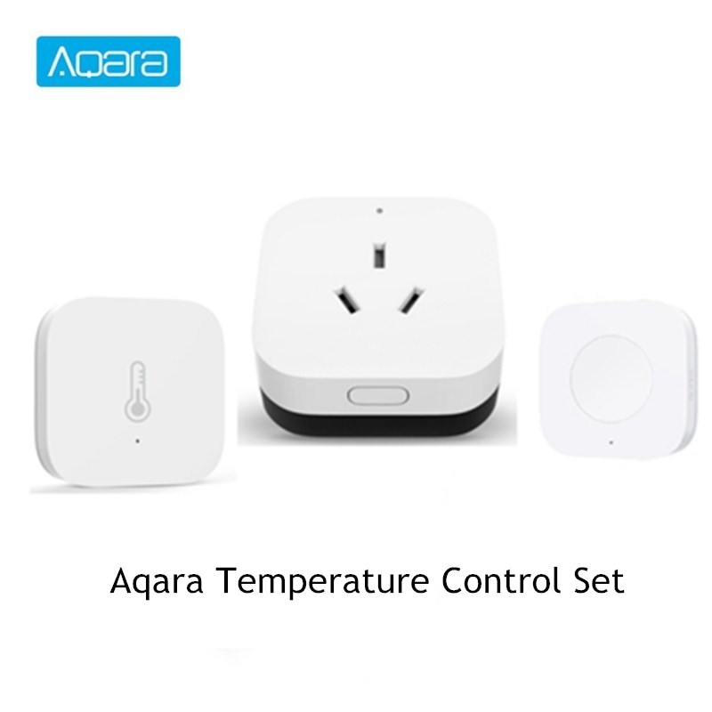 Aqara Temperature Adjustment Set Smart Lingkage Home Device Air Conditioning Companion +  Wireless Switch + Temperature  Sensor