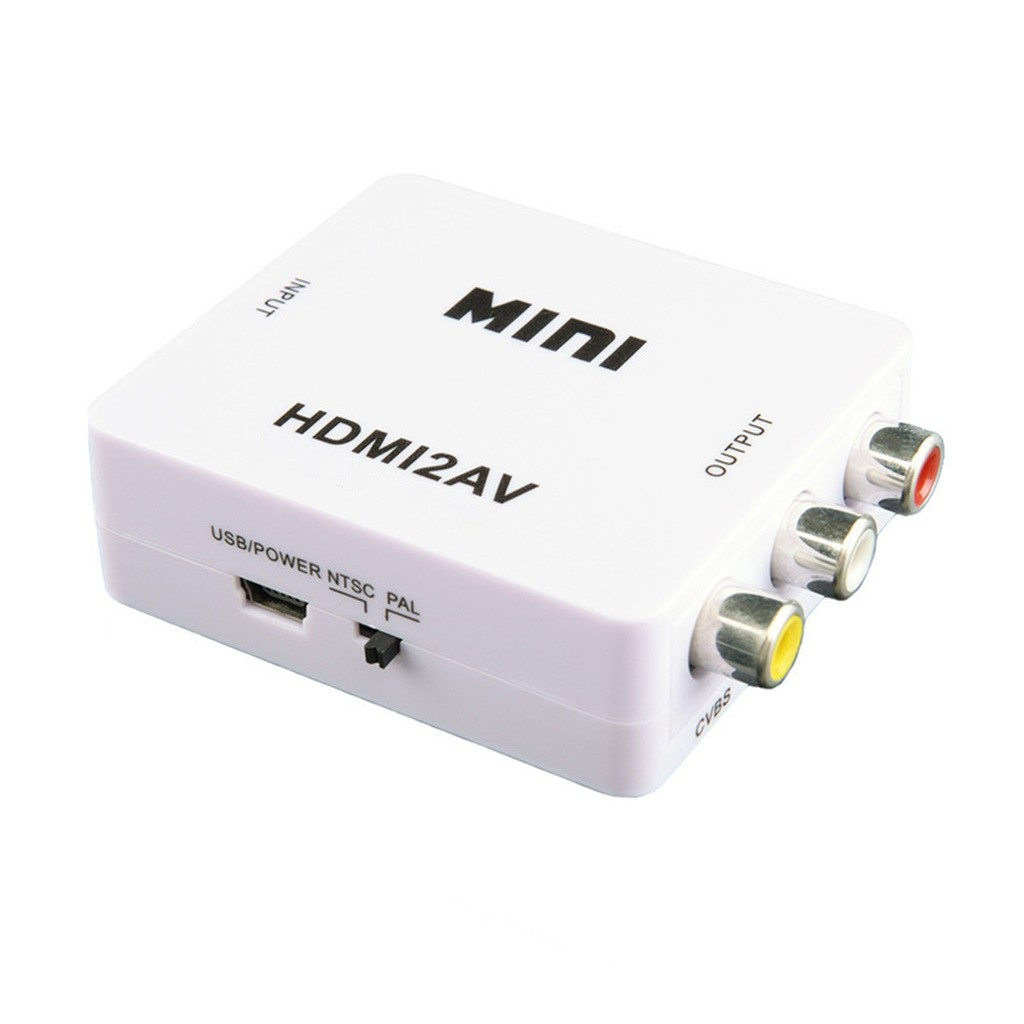 Mini Composite HDMI To RCA 1080P Audio Video AV CVBS Adapter Converter For TV US