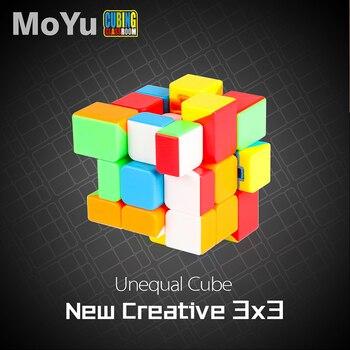Cubo mágico de 56mm desigual, forma extraña, Velocidad suave, alta calidad, no adhesivo, rompecabezas, cubo, juguete educativo, juguetes clásicos Neo cube