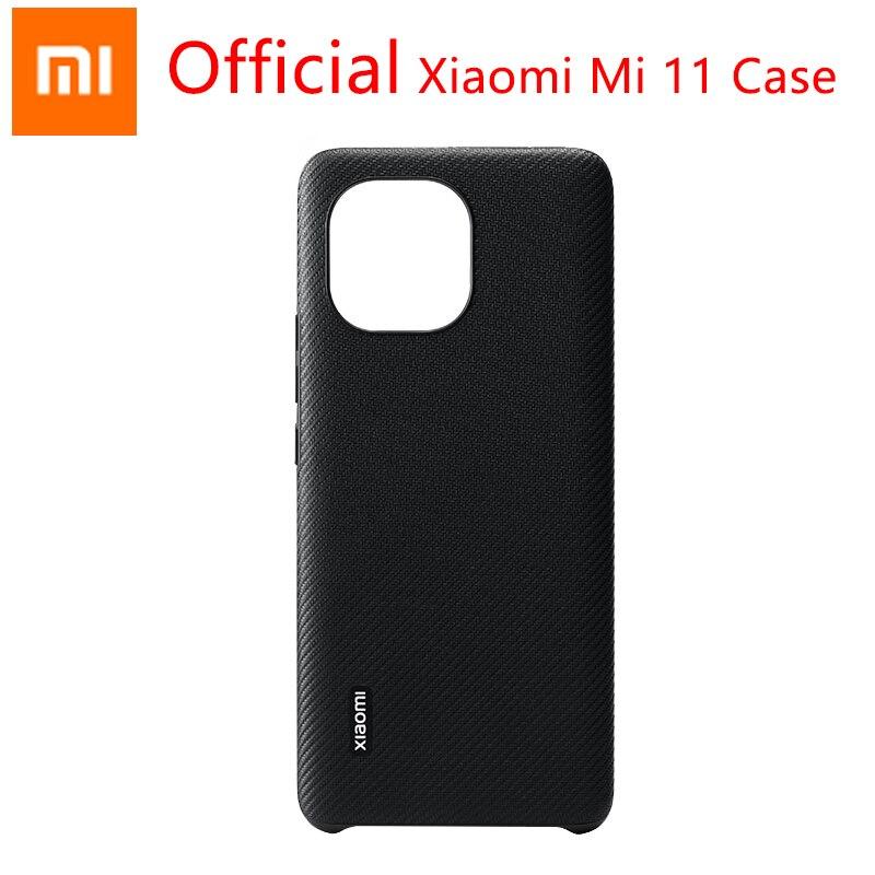 Original Xiaomi Mi 11 Fall Kevlar textur Abdeckung Dünne und licht Umfassende schutz Für Xiaomi Mi 11|Handy-Stoßdämpfer|   -