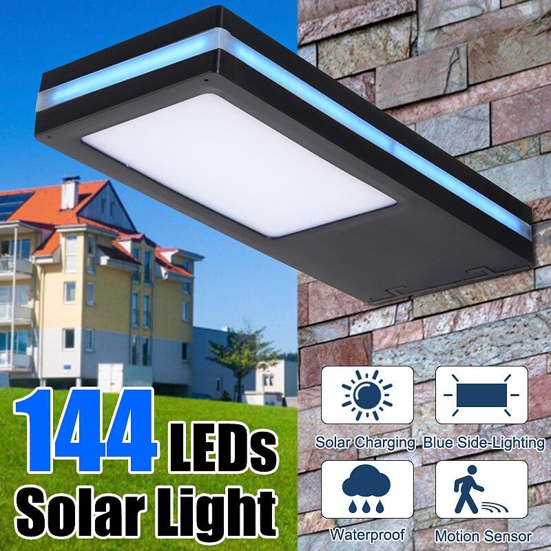 144 LED Solar Lamp Solar Powered PIR Motion Sensor Waterproof Outdoor LED Garden Light Emergency Wall Lamp DC3.7V