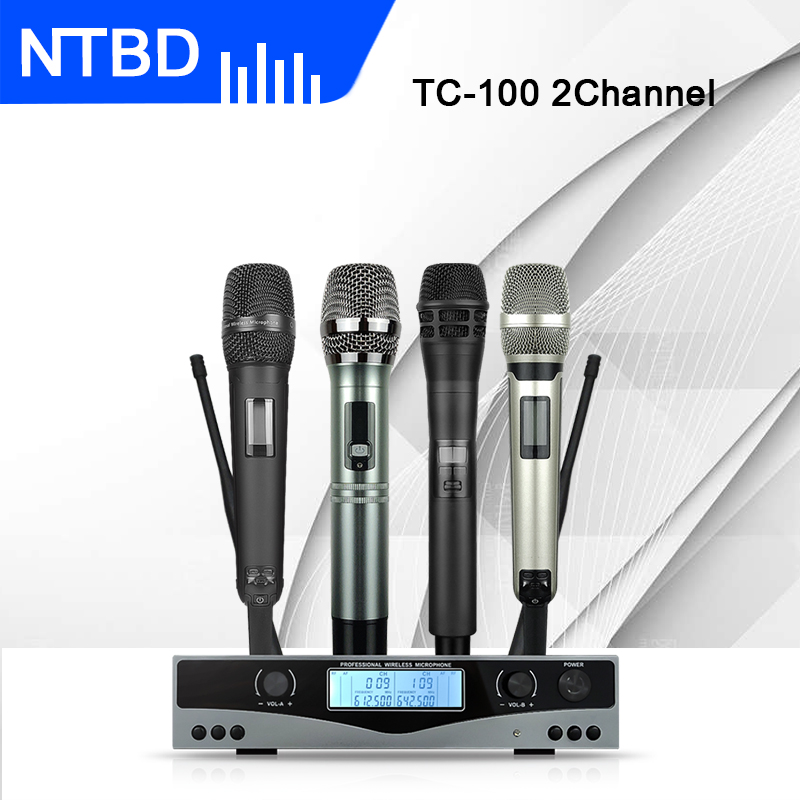 NTBD Hip Hop Stage Performance Home KTV Sing Conference Speak TC-100 Professional Wireless Microphone Automatic FM High Quality