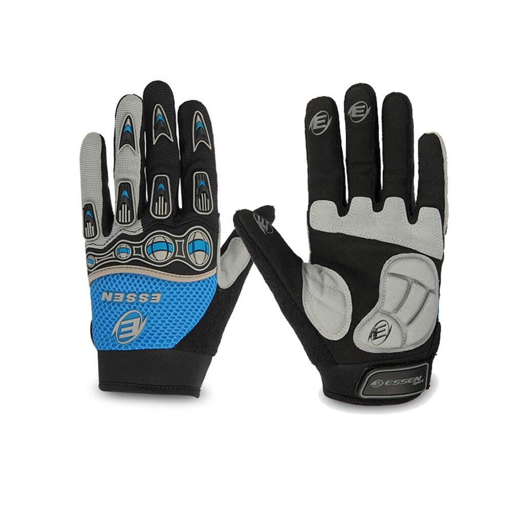 Зимние перчатки для велоспорта ESSEN, гелевые перчатки с длинными пальцами для шоссейного велосипеда, велосипедные перчатки для мужчин и женщ