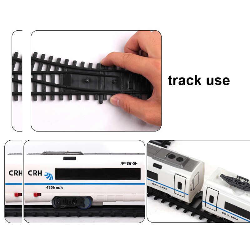 새로운 철도 전기 기차 장난감 레일 기차와 레일과 원격 제어 철도 전기 기차 장난감 모델 rc 기차 세트 키즈