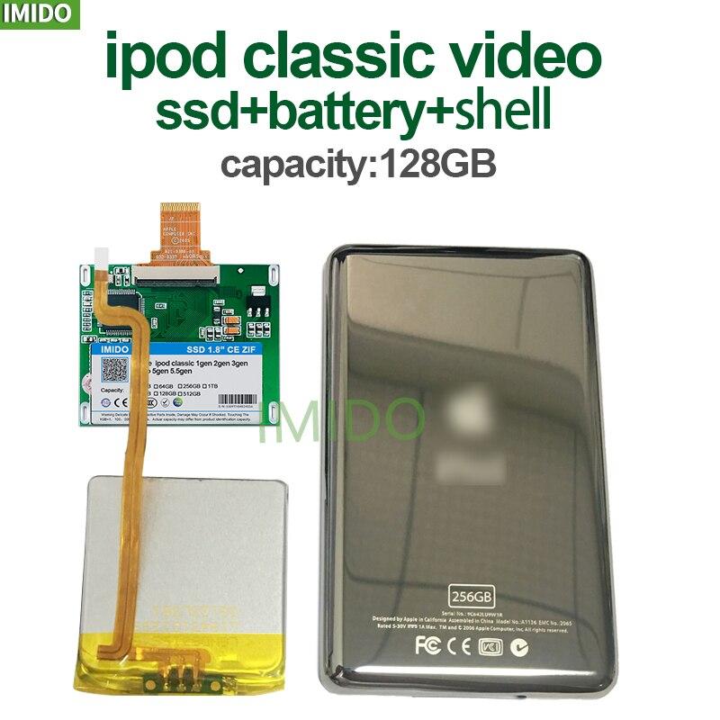 128 ГБ 256 ГБ 512 ГБ SSD для Ipod classic 3Gen Ipod видео Замена MK3008GAH MK6008GAH MK1634GAL MK1231GAL HS12YH Ipod HDD жесткий диск