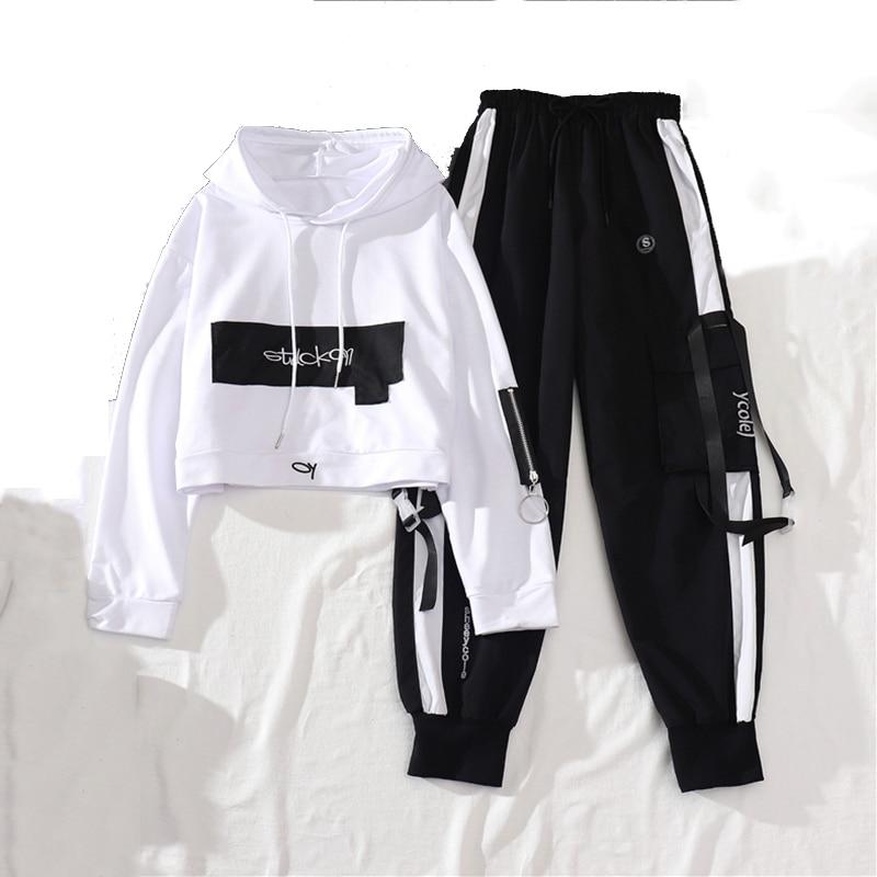 Top Cargo-Pants Casual Trousers Joggers Women Loose Female Streetwear High-Waist