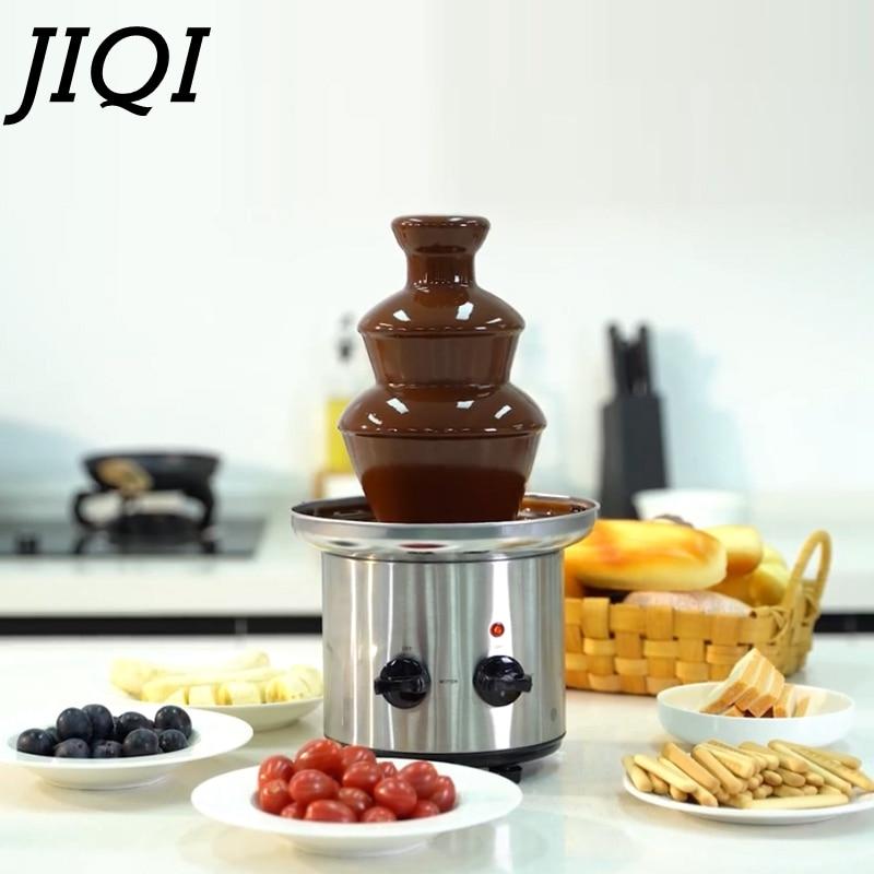 JIQI мини Шоколад плавильный котел 220V Электрический Шоколадный фонтан фондю сыр нагрева масла плавильная печь DIY BakingTool