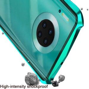 Image 4 - 360 מלא מגן מגנטי מקרה עבור huawei Mate 30 פרו מקרה mate30pro מקרי כיסוי פגוש עבור huawei Mate30 מקרה זכוכית fundas