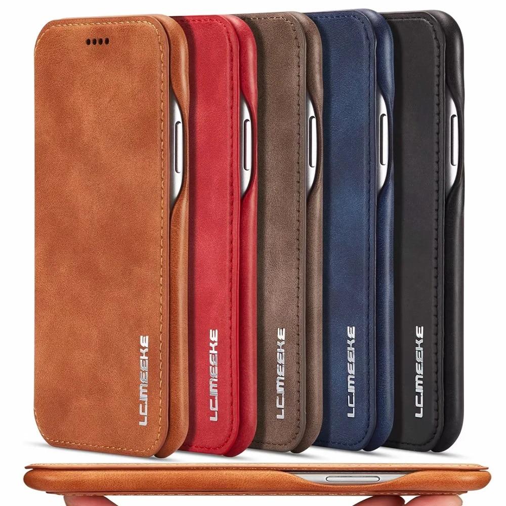 Роскошный Ультратонкий кожаный чехол-книжка для Samsung S21 S20 Ultra Note10 Plus S10 5G S10e A71 A51 A70 A50 A20 A20e Note9 S9 S8