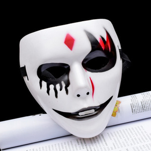 Image 4 - 1Pc Cool Plastic Kamen Rider Mask Ghost Dance Masks Hip Hop Mask White Night Lights for Home Bar Nightclub Party Props Supplies