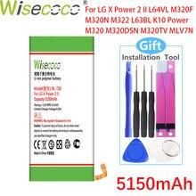 Wisecoco 5150mAh BL-T30 Batterie Pour LG X Power 2 II L64VL M320F M320N M322 L63BL K10 Puissance M320 M320DSN M320TV MLV7N