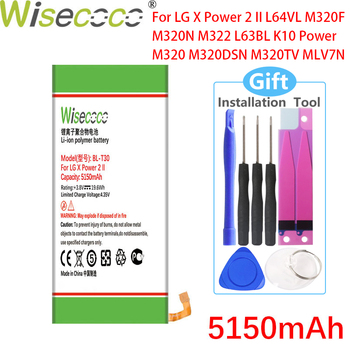 Wisecoco 5150mAh BL-T30 Battery For LG X Power 2 II L64VL M320F M320N M322 L63BL K10 Power M320 M320DSN M320TV MLV7N image