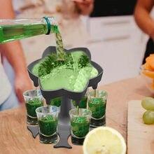 2020 New Bar Tool 6 Shot Glass Dispenser di vino Dispenser per il riempimento di liquidi stilista colpi Dispenser bar accessorio