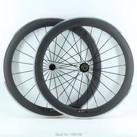 1 пара  новинка  700C  60 мм  клинчер  диски для шоссейного велосипеда  матовый  3 K  углеродный велосипед  руль с легированной тормозной поверхнос...