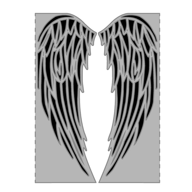 Wing Metal Cutting Dies Stencil Scrapbooking Carbon Steel DIY Album Stamp Paper Card Emboss 14.6x11cm