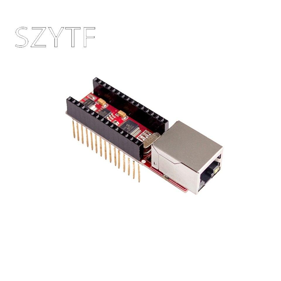 ENC28J60 Ethernet щит V1.0 для arduino совместимый Nano 3,0 RJ45 веб-сервер модуль