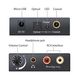 Image 2 - 192kHz DAC Converter Digital Optical Coaxial Toslink to Analog L/R RCA 3.5mm Jack Audio Converter Adapter With Volume Control