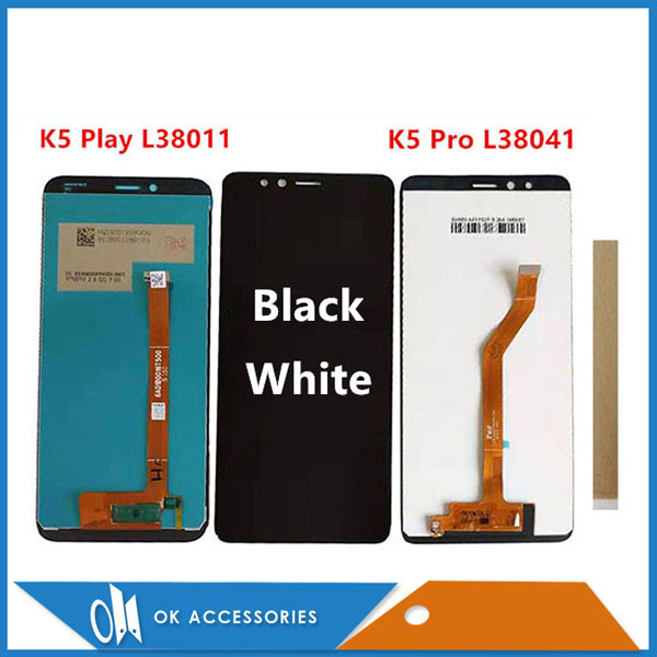 Original For Lenovo K5 Play L38011 / K5 Pro L38041 LCD Display With Touch Screen Glass Sensor Digitizer Assembly With Tools Tape