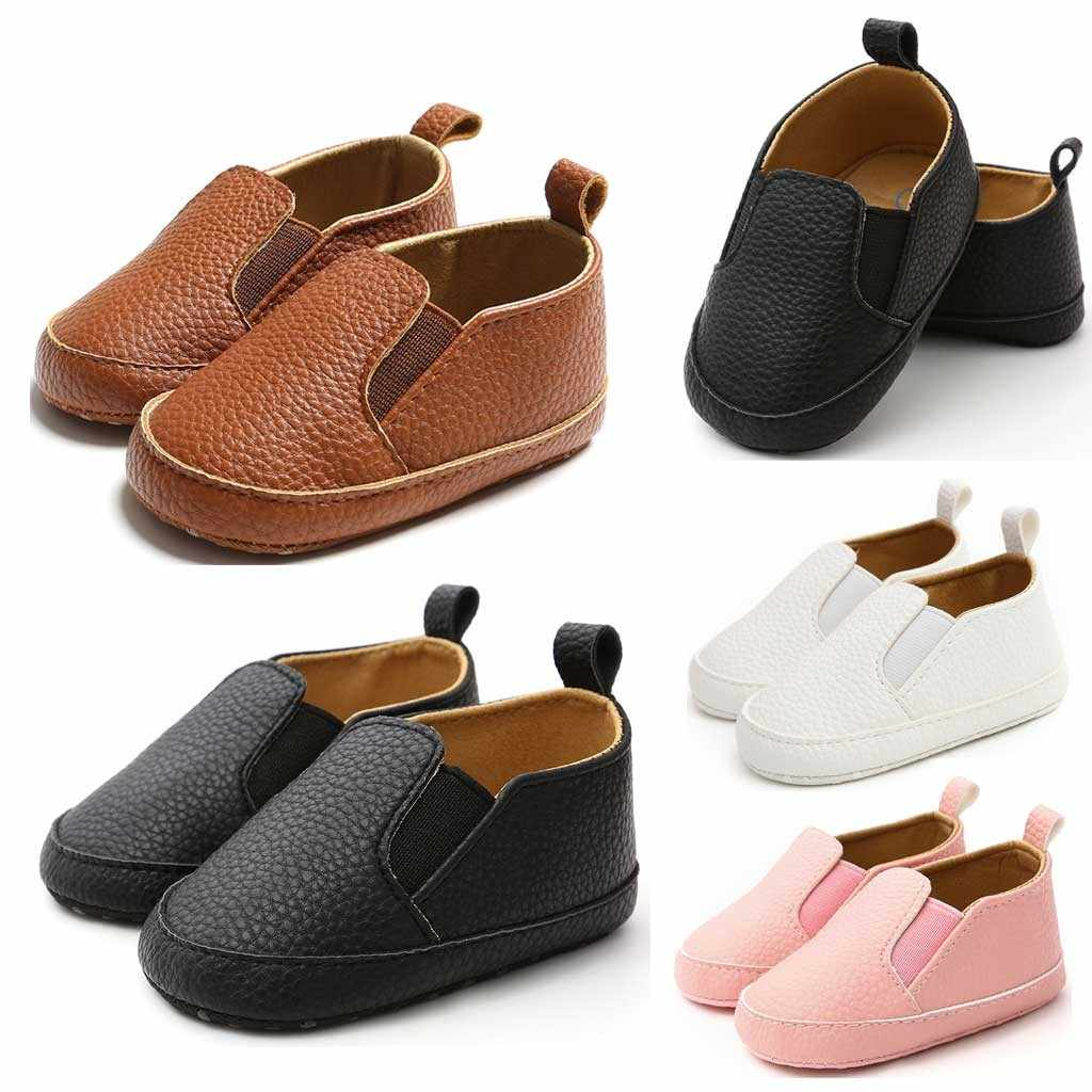 MUQGEW Children'S Shoes Baby Boys Girls Solid Shoes Fashion Autumn 2019 Leather Shoes Toddler First Walkers Kid Shoes schoenen
