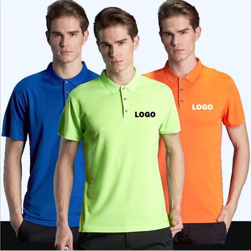 Custom Polo Shirt Men Solid Workwear