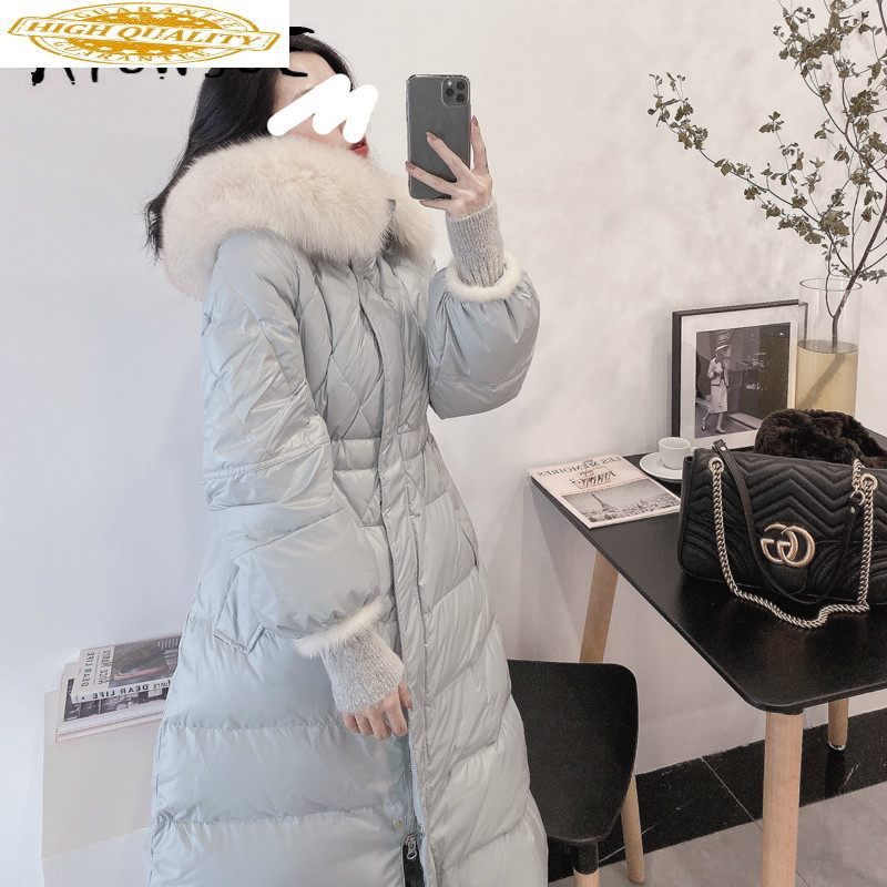 White Duck Down Jacket Women Clothes 2019 Winter Coat Women Korean Fox Fur Collar Puffer Jacket Women Warm Parka UY9781 YY2158
